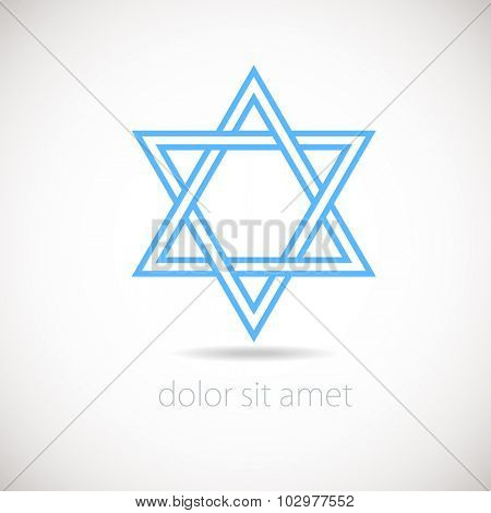 Star of David logo concept.   Vector illustration, Israel.