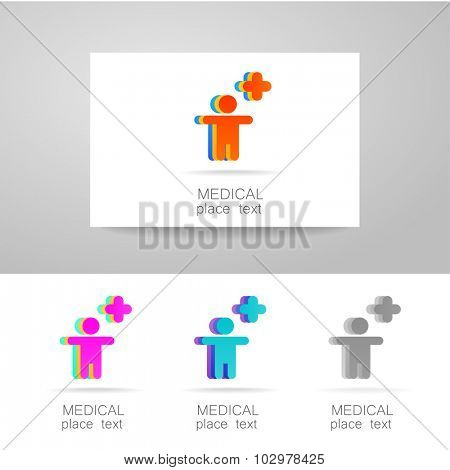 Medical logo - the concept for sign a medical institution, a center, foundation, organization, association, hospital. Vector collection.