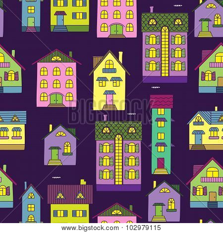 Background With Colorful Houses