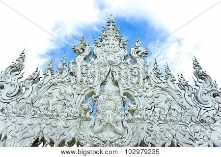 Thai Art At White Temple, Wat Rong Khun, Thailand