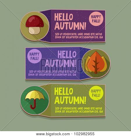 Autumn Flyer set for sale design or other