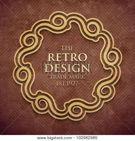 Luxury design frame in old retro style. Vector illustration