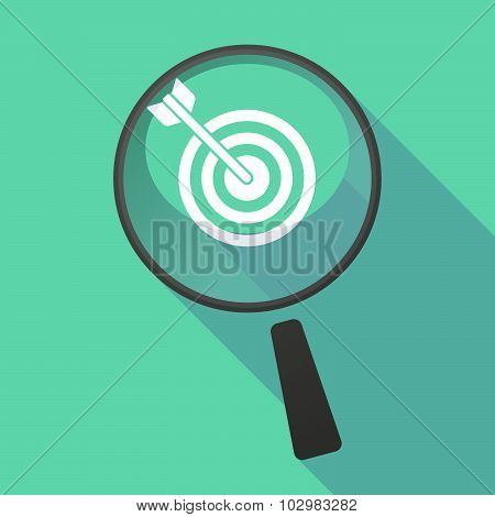 Long Shadow Magnifier Icon With A Lesbian Sign