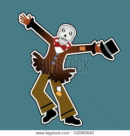 dancing scarecrow skeleton