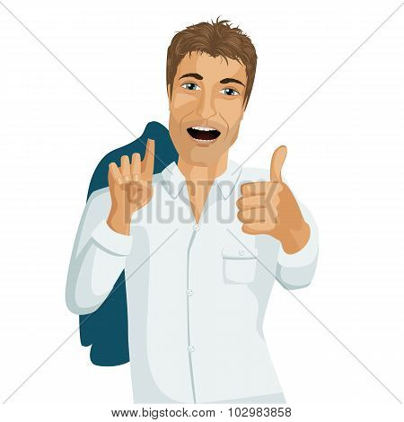 Businessman Thumbs Up