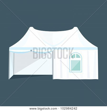Double Folding Tent Marquee Illustration