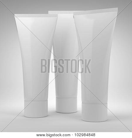 Blank Cosmetics Bottles. Best For Hand Or Face Cream.