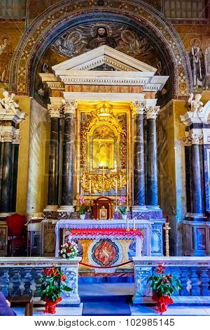 Rome, Italy - October 30: Chapel Of San Venancio, Lateran Baptistery, St John Lateran's Archbasilica