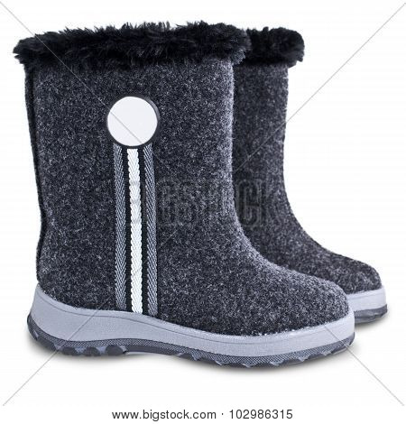 Kids Winter Felt Boots