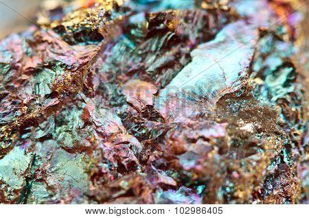 Bornite, Also Known As Peacock Ore, Is A Sulfide Mineral
