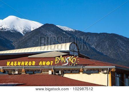 Bansko ski station, cable car lift