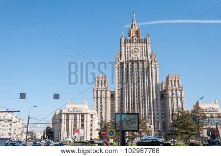 Moscow, Russia - 09.21.2015. The Ministry of Foreign Affairs of the Russian Federation.