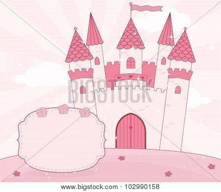 Cartoon fairy tale castle background