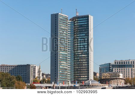 Moscow, Russia - 09.21.2015.  building of Moscow City Government on Novy Arbat