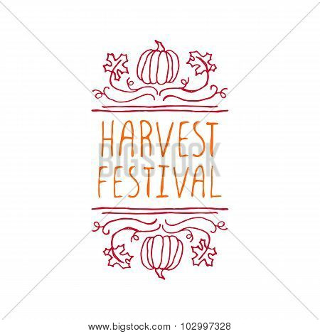 Harvest festival - typographic element
