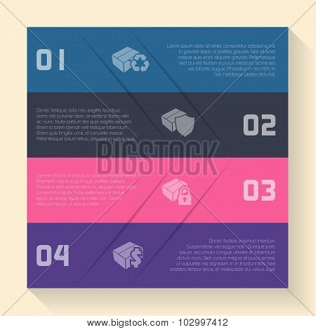 Infographic Design With Box Icons
