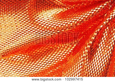 red sparkle fabric texture macro