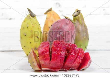 Prickly Pears, Cut Into Pieces