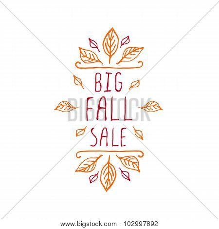 Big Fall Sale - typographic element