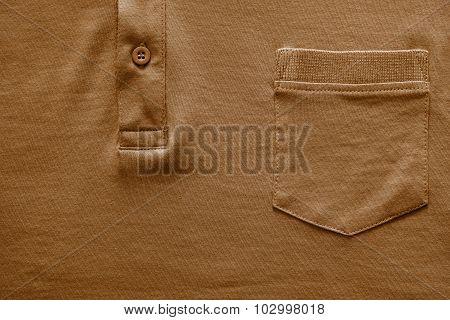 Part Shirt Closeup Of Brown Color
