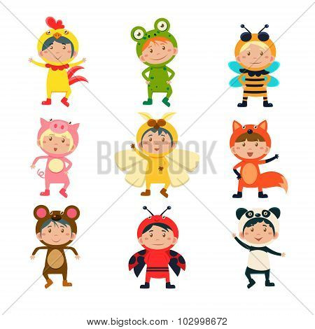 Cute Kids Wearing Animal Costumes