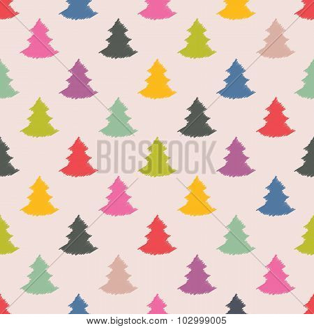 Christmas Tree Seamless Texture Design
