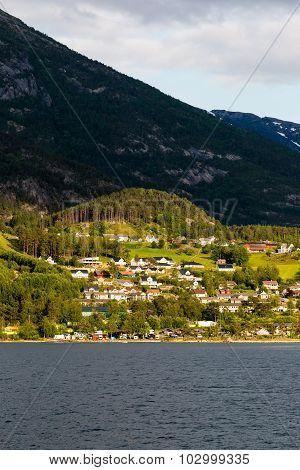 Landscape Near Hardangerfjord In Norway