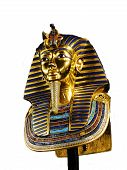 stock photo of funeral home  - The funeral mask of egyptian faraoh Tutankhamun - JPG