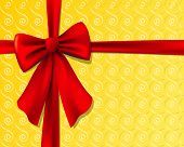 stock photo of christmas-present  - christmas present with red bow - JPG