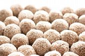 foto of cake-ball  - Close up of Coconut Balls - JPG