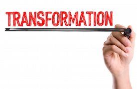 stock photo of transformation  - Hand with marker writing - JPG