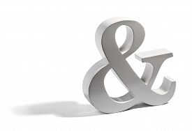 stock photo of ampersand  - Metallic dimensional Ampersand symbol a conjunctive sign denoting the word  - JPG