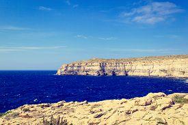 stock photo of gozo  - scenic mountains on Gozo island in Malta - JPG