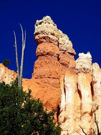 stock photo of hoodoo  - Red rock hoodoo formations on the Colorado plateau - JPG