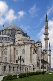 picture of ottoman  - The Suleymaniye Mosque is an Ottoman imperial mosque located on the Third Hill of Istanbul - JPG