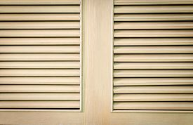 picture of louvers  - wood door with louvers retro abstract background - JPG