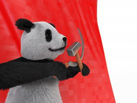 image of panda bear  - the inspired personage type of black - JPG