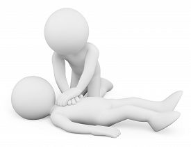 picture of resuscitation  - 3d white people - JPG