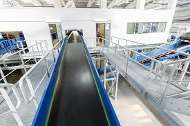 picture of combustion  - Inside of a new modern biomass waste plant - JPG