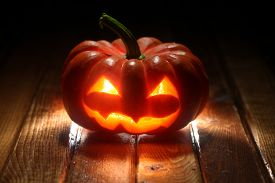 foto of jack-o-laterns-jack-o-latern  - Halloween jack o - JPG