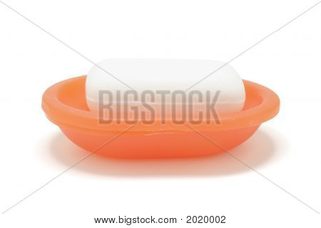 Soap In Soap Dish