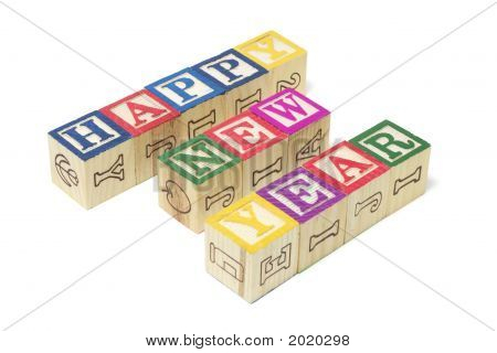 Alphabet Blocks - Happy New Year