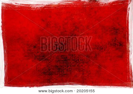 interesting bright red painterly background image with effective earthy texture