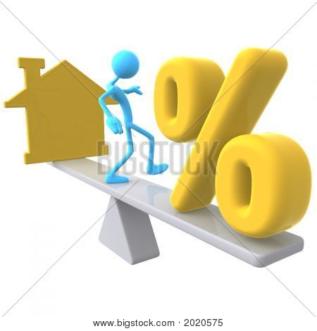 Balancing Home Symbol And Percentage