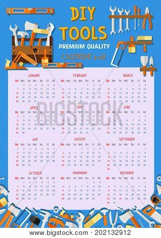 Do yourself diy work tools vector photo bigstock do it yourself diy work tools calendar 2018 template vector design of home renovation measure solutioingenieria Image collections