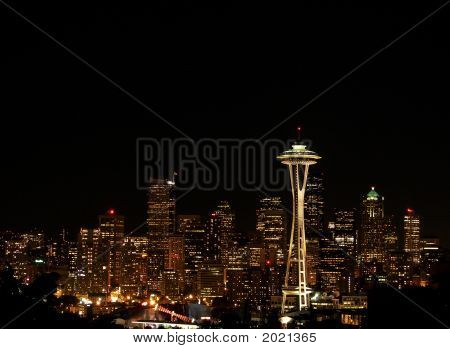 Sparkling Seattle At Night