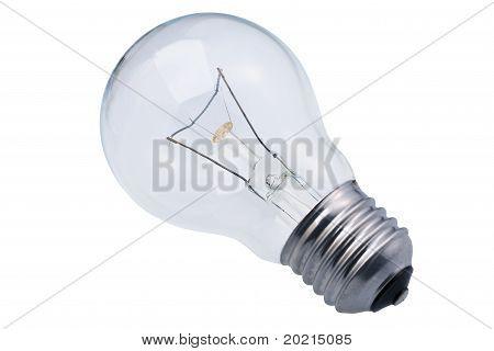 Clear glass lightbulb