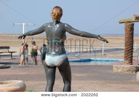 Young Girl On The Dead Sea 1