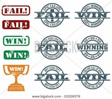 Fail and Win Stamps