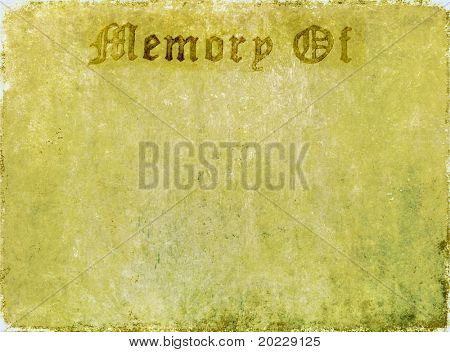 """lovely background image with with the words """"memory of"""". very useful design element."""